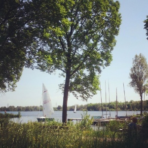 Summers day sailing at Gaasperplas